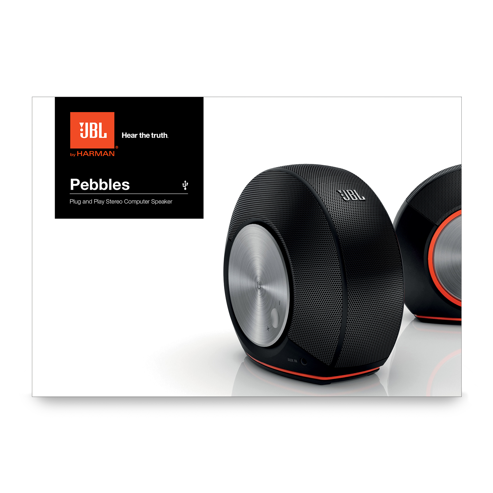 Jbl Pebbles Plug And Play Usb 20 Audio System For Your Computer Current Booster Power Powered Stereo Speaker Manuals Downloads