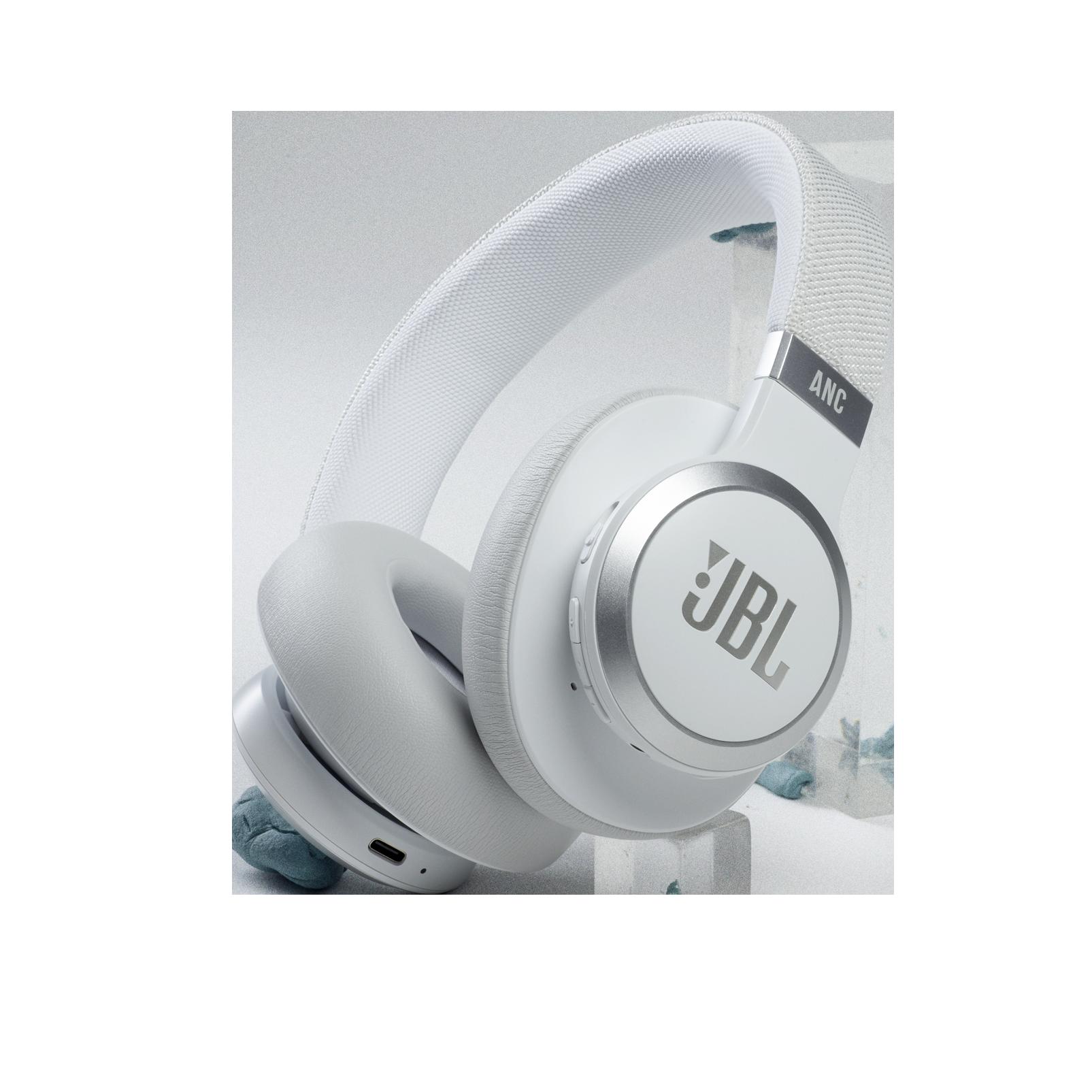 JBL Live 660NC - White - Wireless over-ear NC headphones - Hero