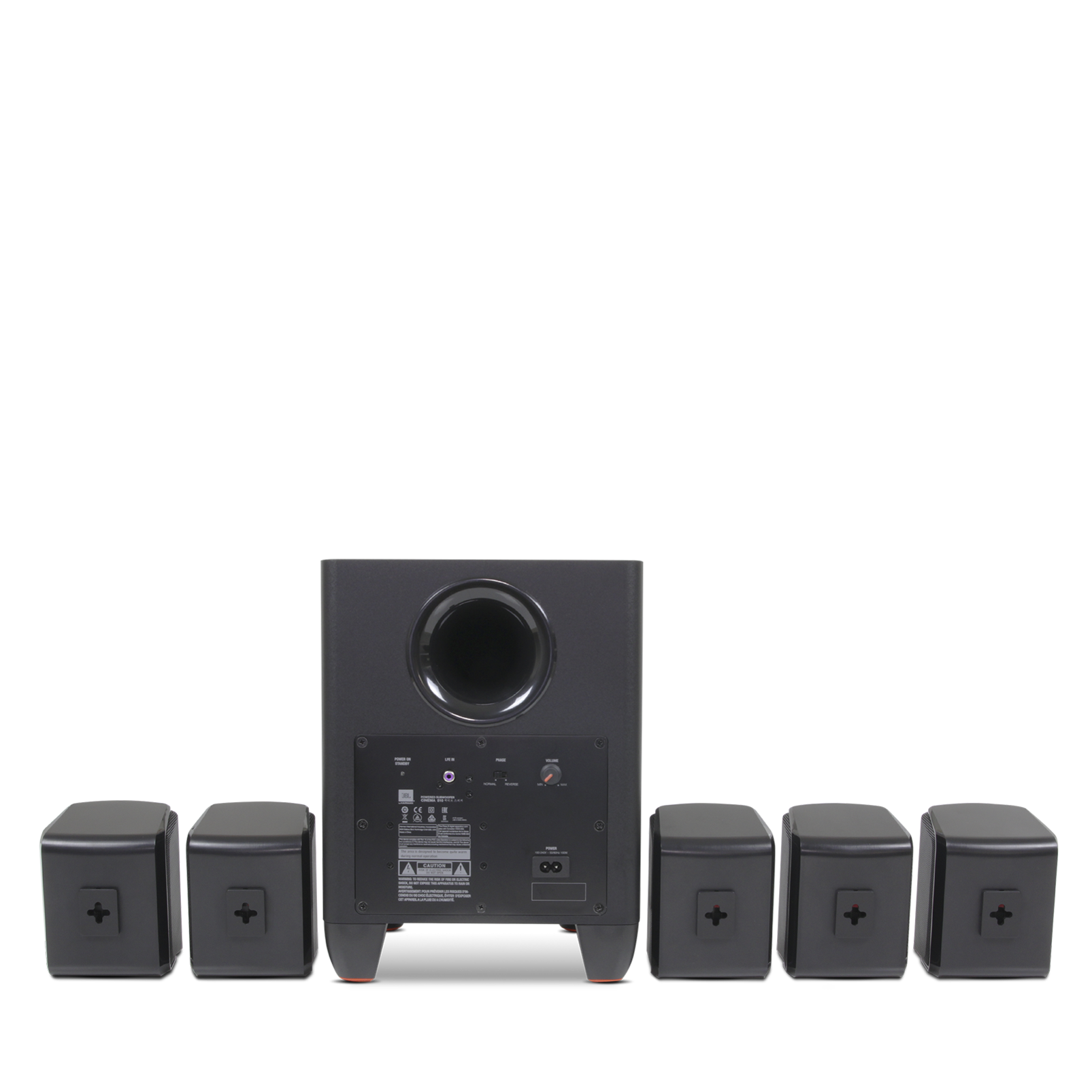 Cinema 510 51 Home Theater Speaker System With Powered Subwoofer Making Surround Amplifier Jbl