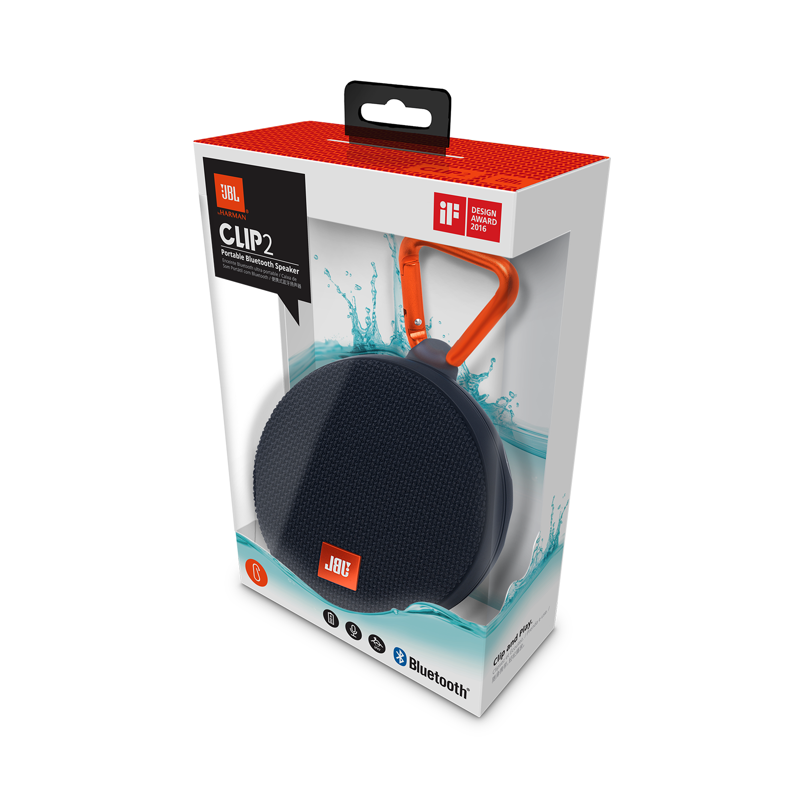jbl clip 2 waterproof ultra portable bluetooth speaker. Black Bedroom Furniture Sets. Home Design Ideas