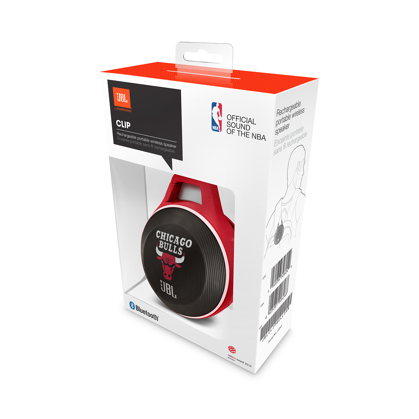Jbl Clip Nba Edition Bulls Chicago Ultra Portable Mono Stereo Speaker Cabinet Wiring Whats In The Box