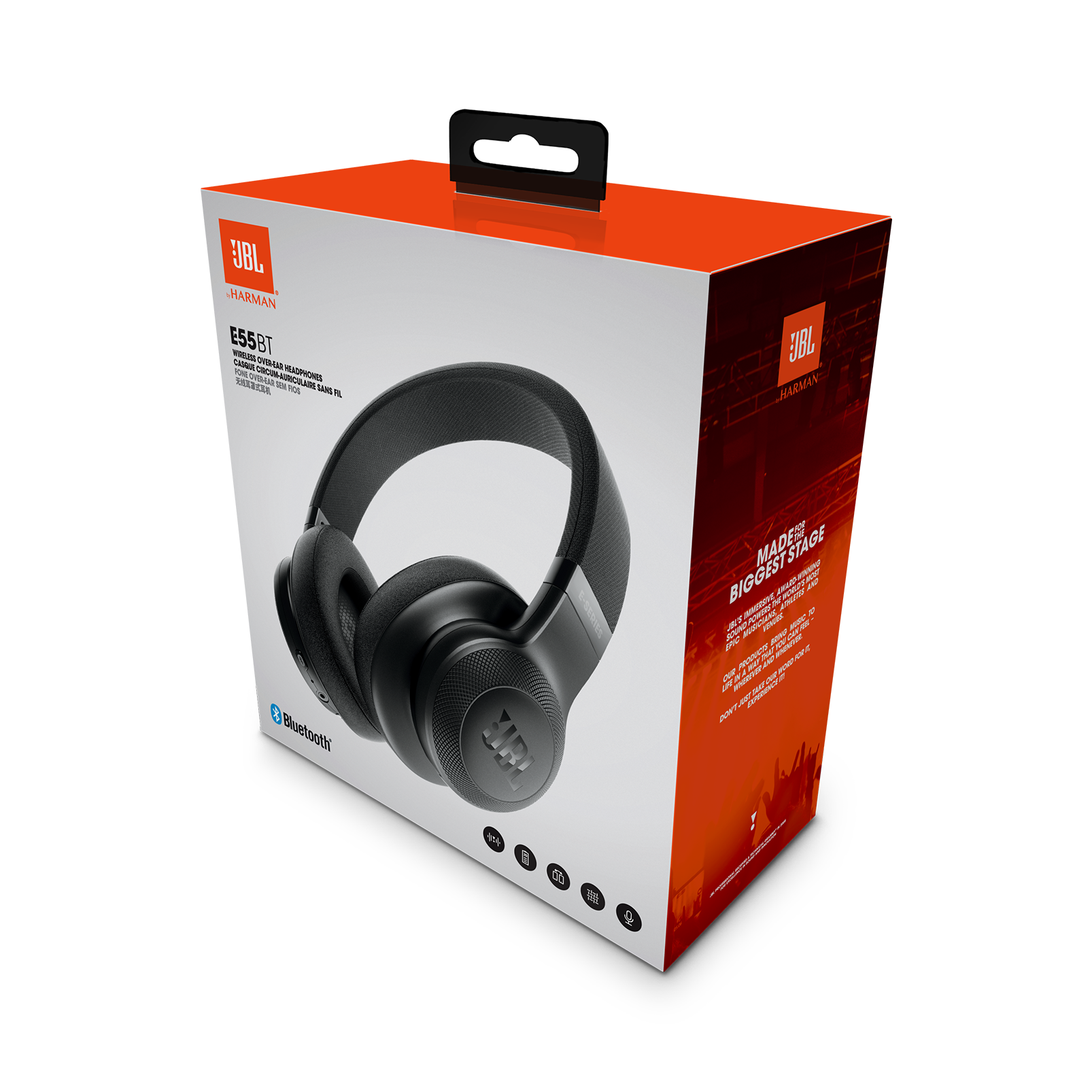 Jbl E55bt Wireless Over Ear Headphones