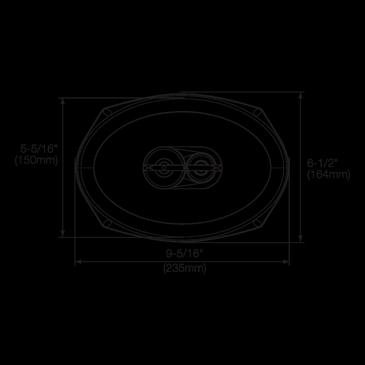 Gx963 6 X 9 Three Way Car Audio Loudspeaker 210w Wiring Diagram For 2007 Camry Jbl Amp