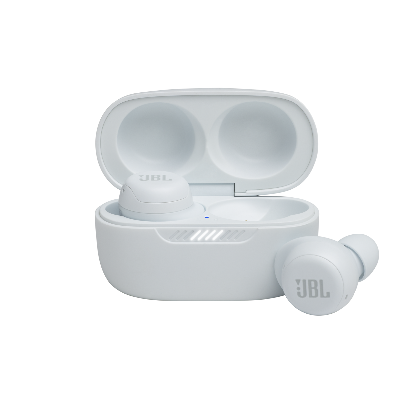 JBL Live Free NC+ TWS - White - True wireless Noise Cancelling earbuds - Hero