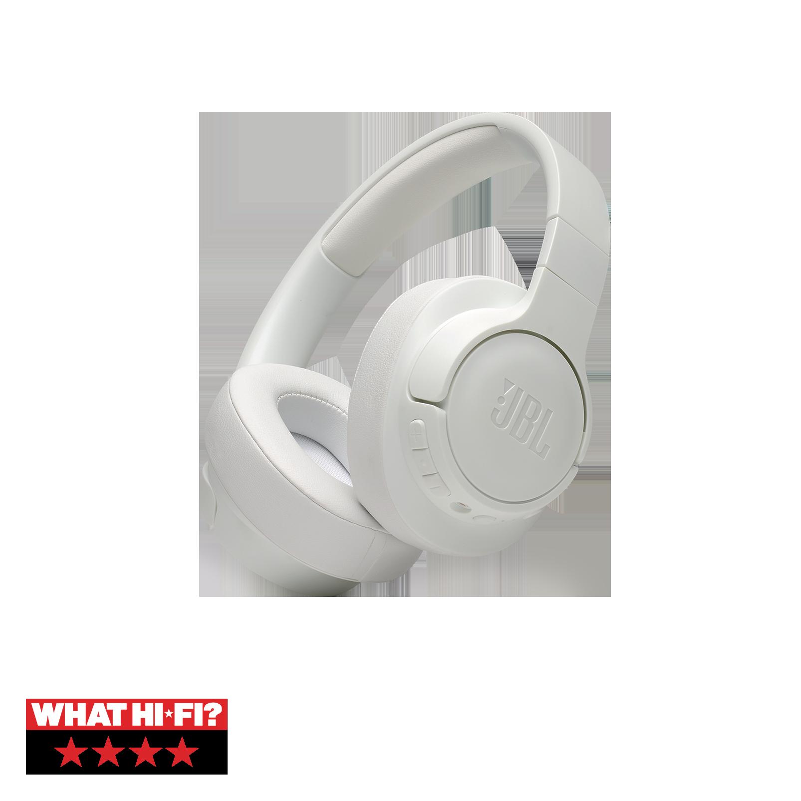 JBL TUNE 750BTNC - White - Wireless Over-Ear ANC Headphones - Hero