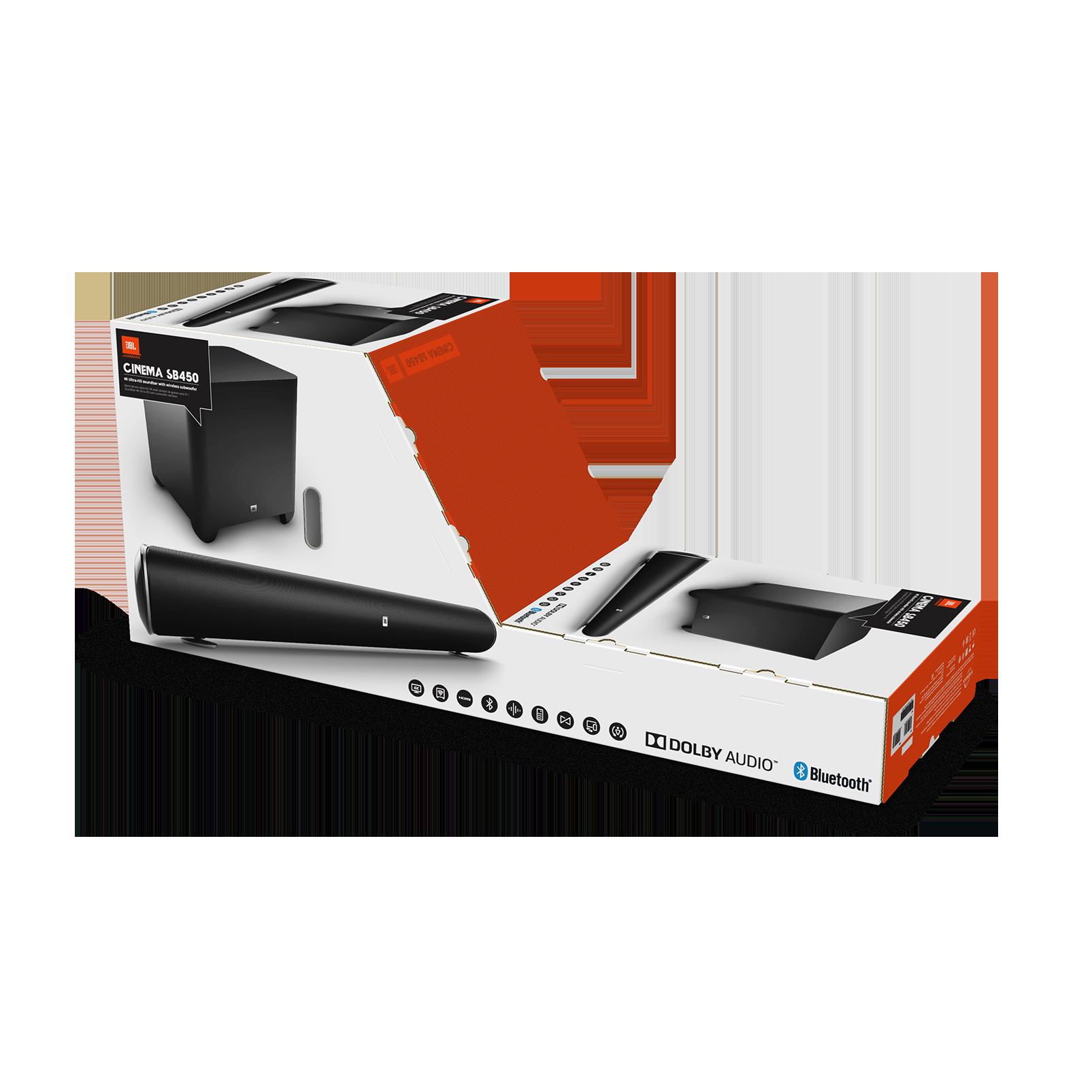 Image result for jbl cinema sb450 4k ultra-hd wireless sound bar with wireless subwoofer (black)