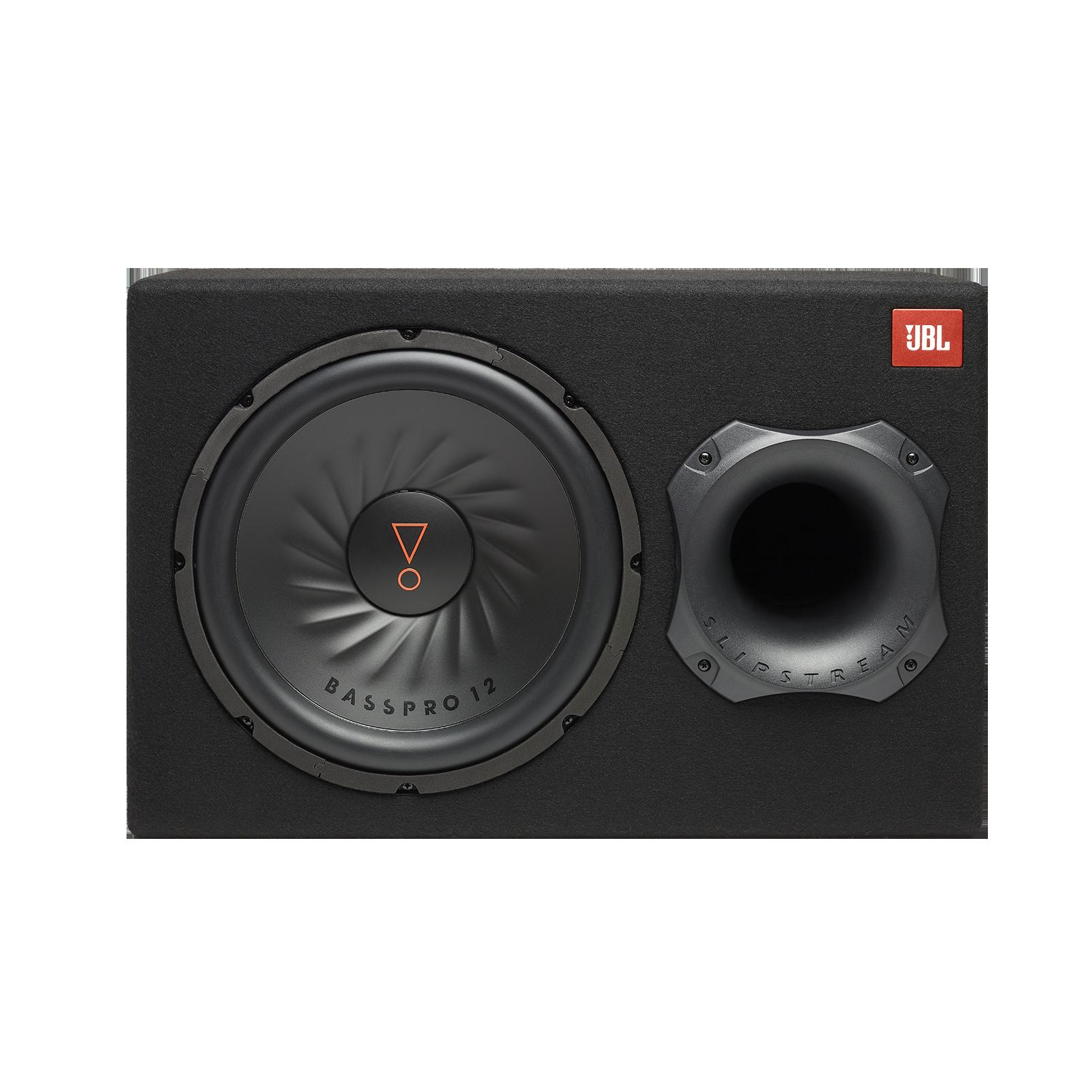 black 300mm JBL GT-BassPro12 12-Inch Car Audio Powered Subwoofer System
