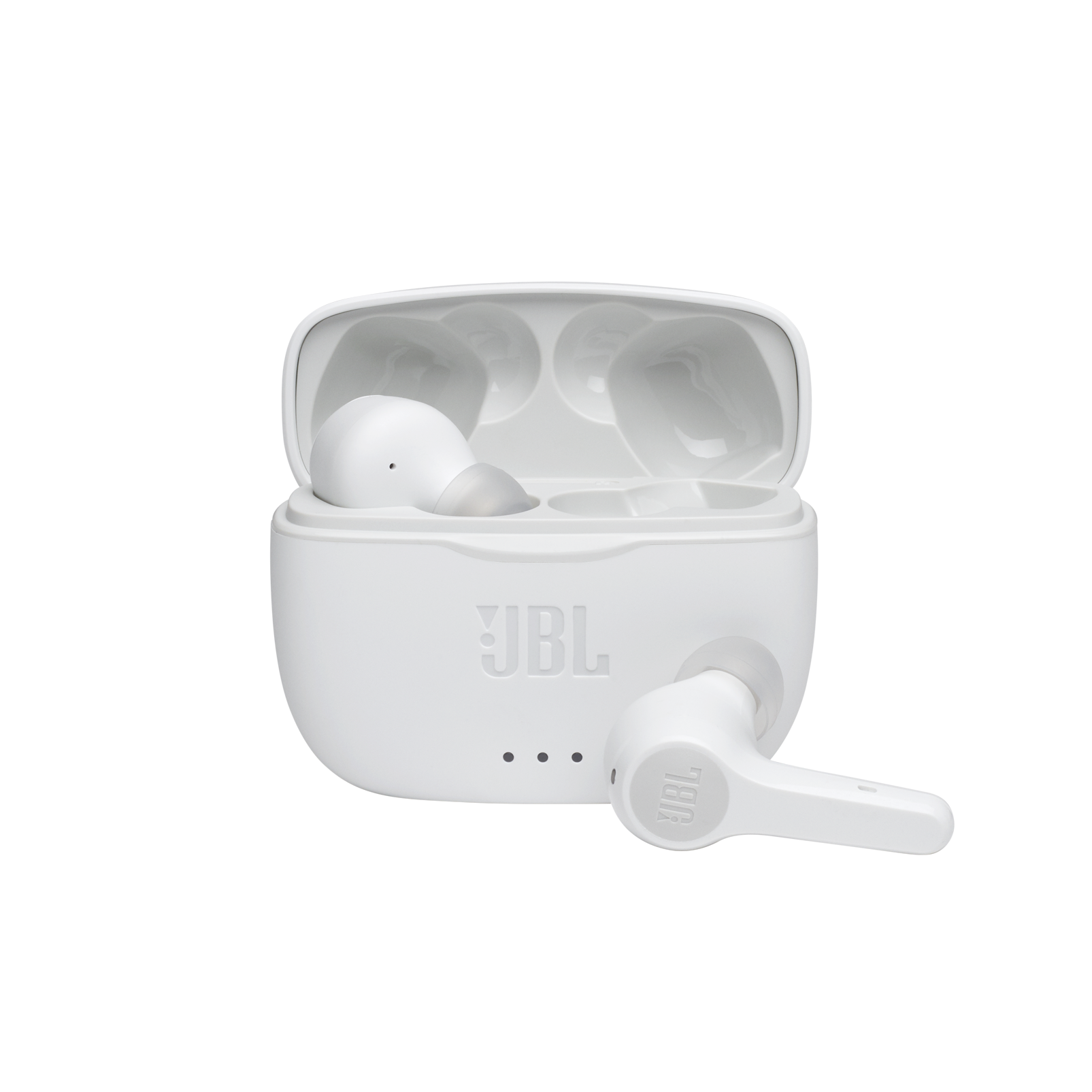 JBL TUNE 215TWS - White - True wireless earbud headphones - Hero