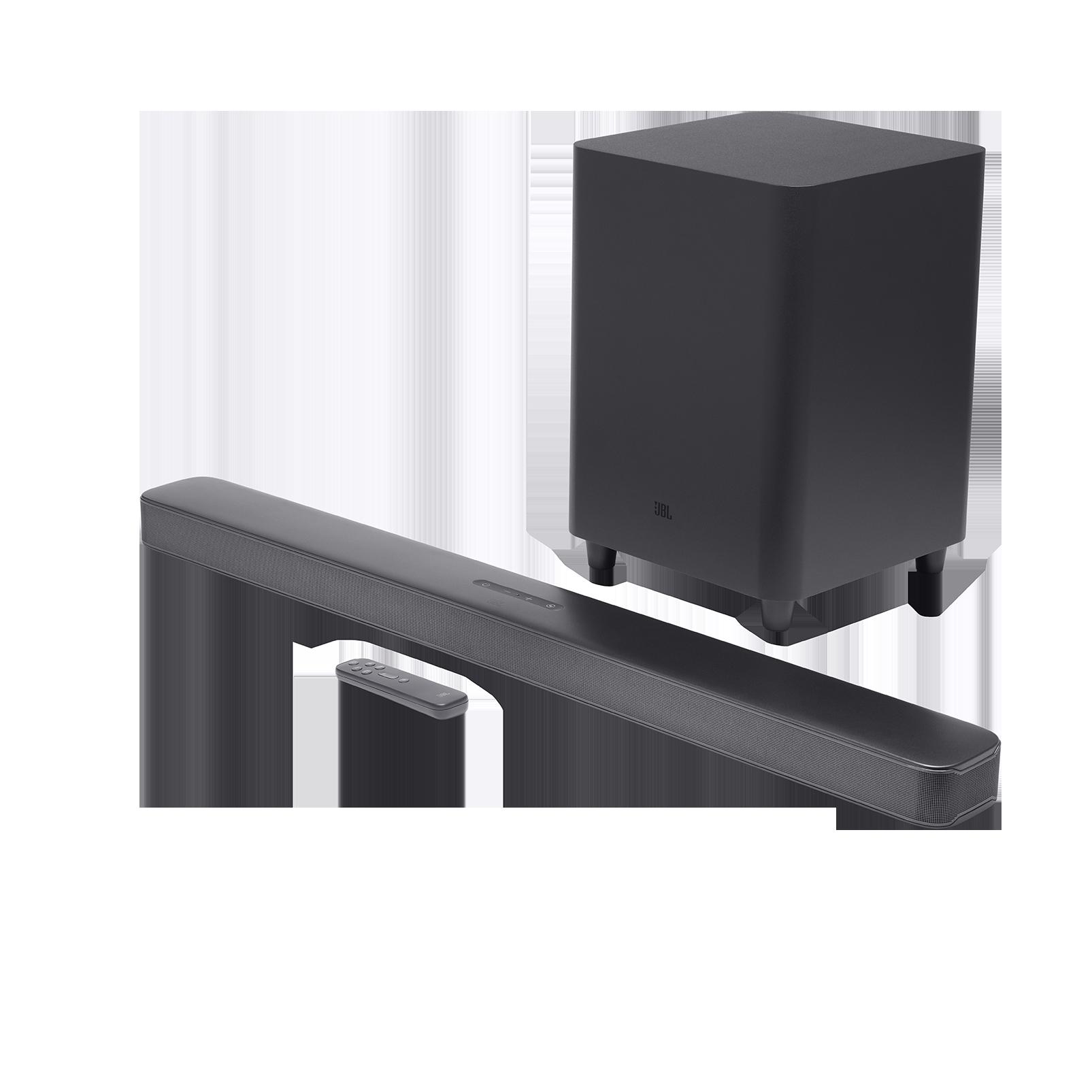 JBL Bar 5.1 Surround - Negro - Barra de sonido de 5.1 canales con tecnología de sonido MultiBeam ™ - Hero